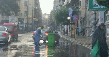 صور.. أمطار متوسطة على مناطق متفرقة بالإسكندرية