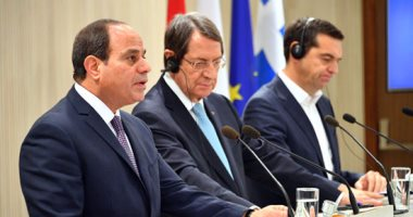 السيسي: قضيتا فلسطين وقبرص لهما أولوية خاصة.. والإرهاب خطر يهدد الإنسانية