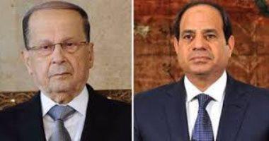 الرئيس عبد الفتاح السيسي ومشيل عون