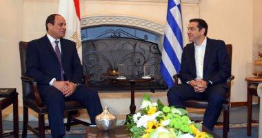 صور.. السيسى ورئيس وزراء اليونان: 2018 عاما للصداقة بين البلدين