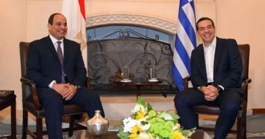 صور..السيسي ورئيس وزراء اليونان يبحثان التصدى للإرهاب و أزمات المنطقة