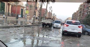 صور.. غرق شوارع الهضبة الوسطى بحى المقطم بسبب انهيار شبكات الصرف الصحى