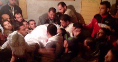 أهالى الرحامنة بدمياط يشيعون أحد شهداء حادث مسجد الروضة الإرهابى