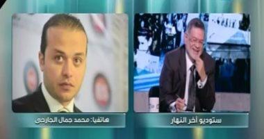 محمد الجارحى يتوعد الخرباوى على الهواء: أقسم بالله ما هسيبك غير مرمى فى السجن