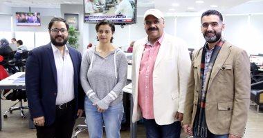 صور.. نجما الخليج داوود حسين وأحمد إيراج فى جولة باليوم السابع