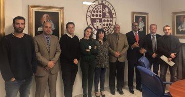 وفد جامعة أسوان يلتقى 3 عمداء كليات بجامعة خايين بإسبانيا