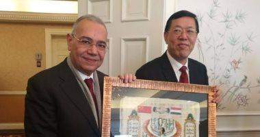 """رئيس """"المصريين الأحرار"""" يبحث سبل التعاون مع نائب وزير الخارجية الصينى"""