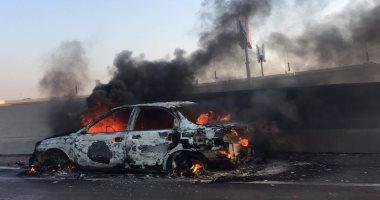 السيطرة على حريق سيارة رئيس محكمة وادى النطرون دون إصابات