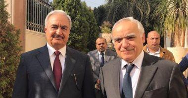 المبعوث الخاص إلى ليبيا يلتقى المشير خليفة حفتر فى القاهرة
