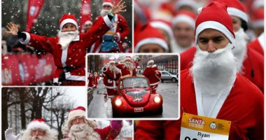 """""""سانتا كلوز"""" رمز الخير حول العالم.. حفلات خيرية بـ 3 دول"""