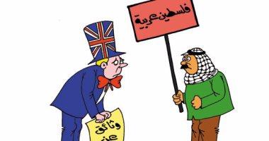 تخاريف الإسرائيليين حول توطين الفلسطينيين بسيناء.. بكاريكاتير اليوم السابع