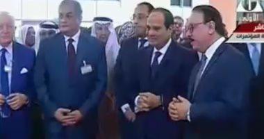 الرئيس السيسي يصل مقر انعقاد مؤتمر القاهرة الدولى للاتصالات