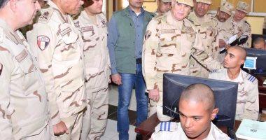 رئيس الأركان يتفقد منظومة التأهيل العلمى والعسكرى بمعهد ضباط الصف المعلمين