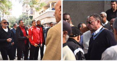 الخطيب يحضر جنازة مكتشفه إبراهيم الشيخ