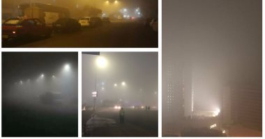 شبورة مائية تغطى سماء القاهرة والمحافظات.. والمرور يحذر من السرعة