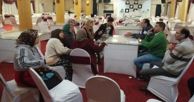 أعضاء مجلس إدارة دمنهور يجتمعون مع أولياء أموار لاعبى كرة اليد لبحث مشاكلهم
