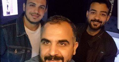 هيثم شاكر ينشر صورة مع وليد سعد والموزع أحمد إبراهيم داخل الاستوديو