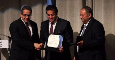 اليونسكو تكرم عددا من الوزراء والعاملين بمكتب القاهرة