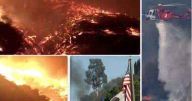 كاليفورنيا تحترق.. النيران تجتاح الولاية الأمريكية والطائرات تحاول إخمادها