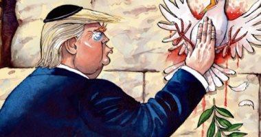 كاريكاتير التايمز: ترامب يصفع حمامة السلام
