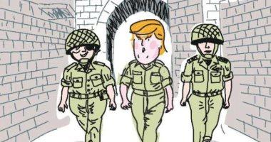 كاريكاتير إسرائيلى: ترامب أفضل لإسرائيل من موشيه ديان