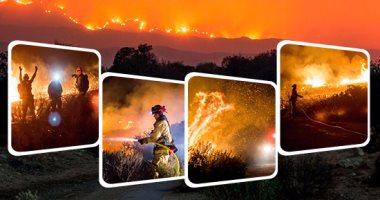 الطبيعة تنتقم من أمريكا والحرائق تلتهم الأخضر واليابس فى كاليفورنيا