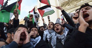 صور.. تظاهرات فى تونس احتجاجا على قرار ترامب بنقل السفارة للقدس