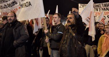 صور.. اليونانيون يتظاهرون فى شوارع أثينا احتجاجا على زيارة أردوغان بلادهم