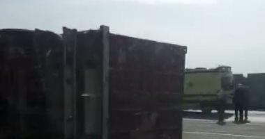 إصابة 6 أشخاص إثر انقلاب سيارة بمدخل مدينة المنيا الجديدة