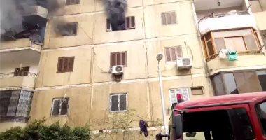 السيطرة على حريق داخل شقة سكنية فى البساتين دون إصابات