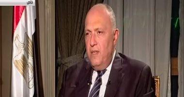 سامح شكرى: إرسال قوات مصرية لليمن غير مطروح.. وأزمة قطر على ما هى عليه