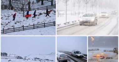 الثلوج الكثيفة تعرقل حركة النقل والسير فى أوروبا 201712110250555055.j