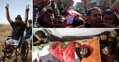 """قتله """"قناصة الاحتلال"""".. الآلاف يشيعون الشهيد الفلسطينى إبراهيم أبو ثريا"""
