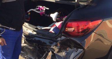 إصابة 12 مواطناً فى حادث تصادم سيارتين أمام العاصمة الجديدة