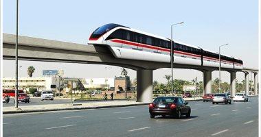 نتيجة بحث الصور عن القطار المعلق بالعاصمة الادارية
