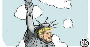 """ترامب يرفع شعلة إحراق العالم.. بكاريكاتير """"اليوم السابع"""""""