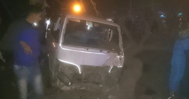 إصابة 9 أشخاص فى حادث تصادم ميكروباص ودراجة بخارية بالبحيرة