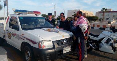 """""""المرور"""" تواجه الفوضى وتحرر 406 مخالفات متنوعة بـ6 أكتوبر"""