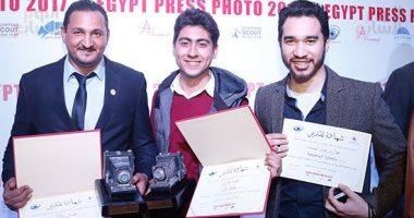 """""""اليوم السابع """" تحصد 3 جوائز بمسابقة شعبة المصورين بنقابة الصحفيين"""