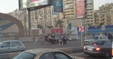 إصابة 15 عاملا فى حادث انقلاب سيارة ربع نقل بالفيوم