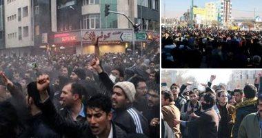 """فى سابع أيام """"انتفاضة الإيرانيين"""" .. النظام يرد بـ""""مسيرات التأييد"""".. غلق الشوارع والميادين الرئيسية لوأد الاحتجاجات.. 21قتيلا وعشرات المصابين بعد أسبوع من """"الكر والفر"""".. والمعارضة: السجون امتلأت بمئات المعتقلين"""