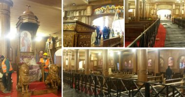 التجهيزات النهائية لكنيسة العاصمة الإدارية الجديدة قبل عيد الميلاد