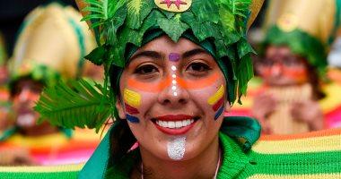 """صور.. الآلاف يشاركون فى مهرجان """"السود والبيض"""" بكولومبيا"""