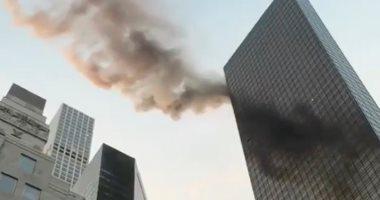 صور وفيديو.. تعرض أحد أبراج ترامب فى مانهاتن لحريق هائل