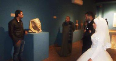 لأول مرة.. صور..  أفراح المنياوية داخل متحف ملوى