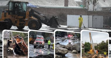 سيول وانهيارات طينية تضرب ولاية كاليفورنيا الأمريكية