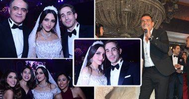 عمرو دياب يحيى زفاف نادية البستانى ومحمد خطاب بحضور أحمد شفيق ونجوم الفن والمشاهير
