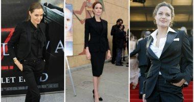 أزياء فورمال من دولاب أنجلينا جولى لإطلالة تتسم بالبساطة