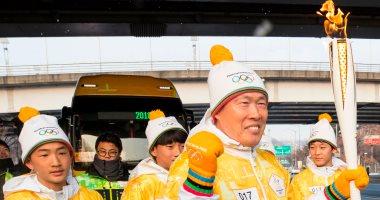 صور.. انطلاق شعلة أولمبياد 2018 الشتوية فى شوارع عاصمة كوريا الجنوبية
