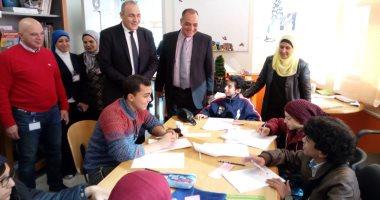 """وكيل """"تعليم القاهرة"""" يتفقد سير اللجان الامتحانية فى مستشفى 57357"""